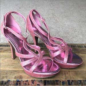 Pink glitter high heels - Size 8